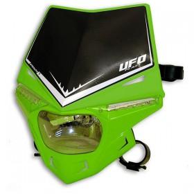 UFO STEALTH predná maska s dennými ledkami, zeleno čierna