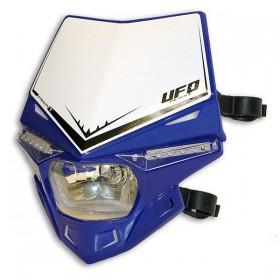 UFO STEALTH predná maska s dennými ledkami, modro biela