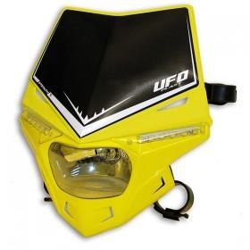 UFO STEALTH predná maska s dennými ledkami, žlto čierna