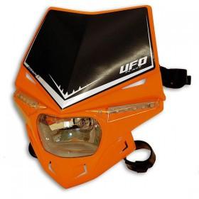 UFO STEALTH predná maska s dennými ledkami, oranžovo čierna