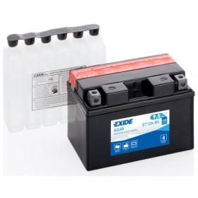 EXIDE BIKE AGM YT12A-BS 12V 9,5Ah