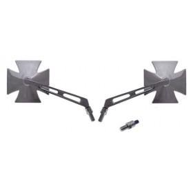 Univerzálne spätné zrkadlá CHOPPER kríž M10