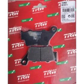 MCB672 TRW zadné brzdové doštičky