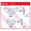 MCB523 TRW brzdové doštičky