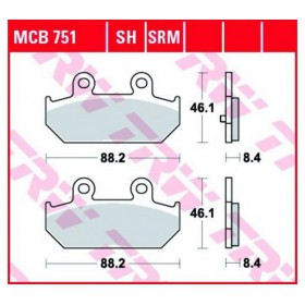 MCB751 TRW zadné brzdové doštičky Suzuki Burgman