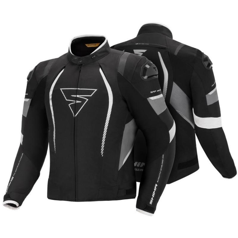 SHIMA SOLID PRO BLACK pánska športová textílna bunda na motorku