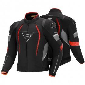 SHIMA SOLID PRO RED pánska športová textílna bunda na motorku