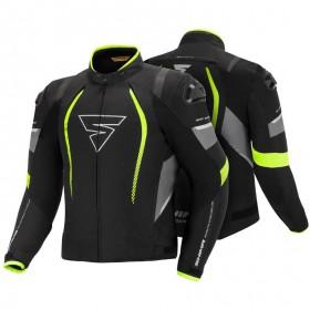 SHIMA SOLID PRO FLUO pánska športová textílna bunda na motorku