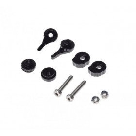 Regulácia CNC páčok, farba čierna