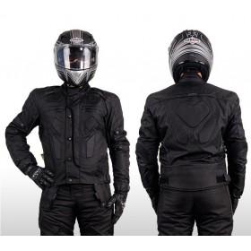 L&J KTM013 pánska textílna bunda na moto - čierna