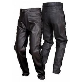 L&J SSM001 pánske kožené nohavice so šnurovačkou, anilínová mäkká koža