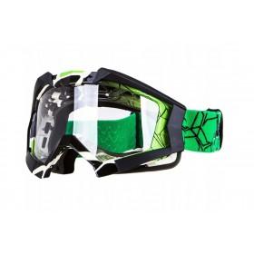 NAXA G1/D zelené motokrosové okuliare