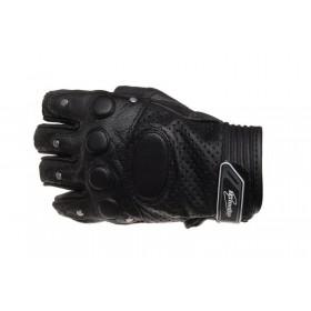 LEOSHI INMOTION bezprstové kožené rukavice, perforované s nitmi