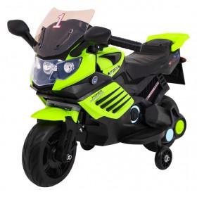 Elektrická detská motorka SUPERBIKE zelená fluo