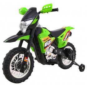 Elektrická detská motorka CROSS zelená