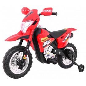 Elektrická detská motorka CROSS červená