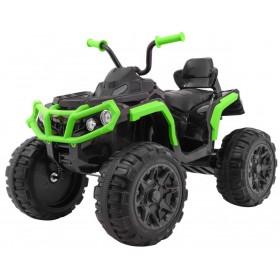 Elektrická detská štvrorkolka ATV čierno-zelená