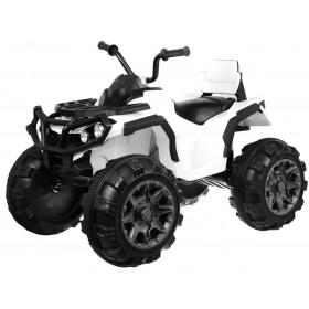 Elektrická detská štvrorkolka ATV biela