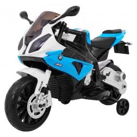 Detská elektrická motorka BMW S1000RR modrá