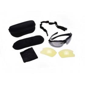 Slnečné UV moto okuliare s náhradnými sklíčkami