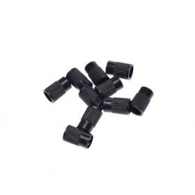 Plastová čiapočka na ventil s kľúčikom, čierna