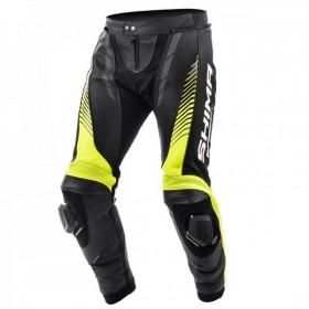 SHIMA APEX YELLOW FLUO pánske kožené nohavice
