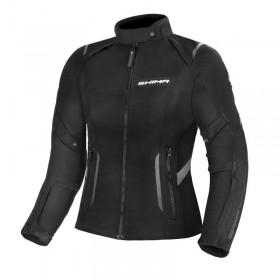 SHIMA RUSH LADY BLACK dámska textílna bunda na motorku