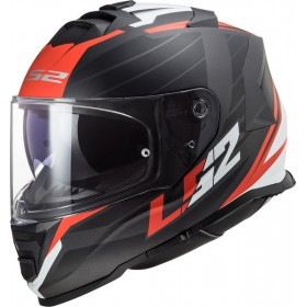 Prilba LS2 FF800 STORM NERVE matt black red