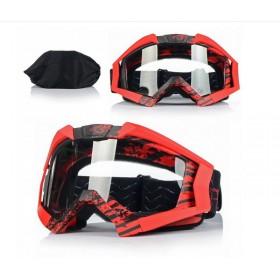 NAXA G3D ANTIFOG RED - motokrosové okuliare