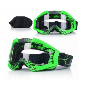 NAXA G3H ANTIFOG GREEN - motokrosové okuliare