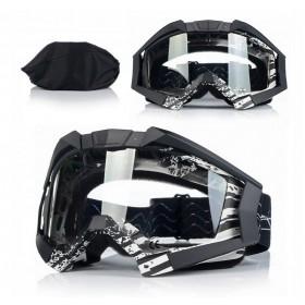 NAXA G3A ANTIFOG BLACK - motokrosové okuliare