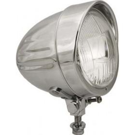 Prídavné chrómované svetlo so strieškou H3 122mm E-MARK ECE