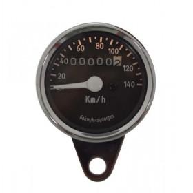 Okrúhly analógový tachometer na lanko s podsvietením pre motocykle