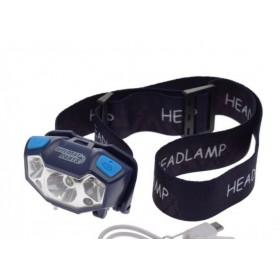 Q5 LED čelovka, nabíjateľná cez USB