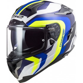 Prilba LS2 FF327 CHALLENGER GALACTIC white yellow blue