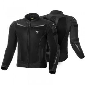 SHIMA PISTON BLACK pánska kožená bunda s ventiláciou