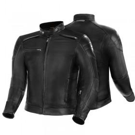 SHIMA BLAKE čierna kožená bunda v štýle VINTAGE