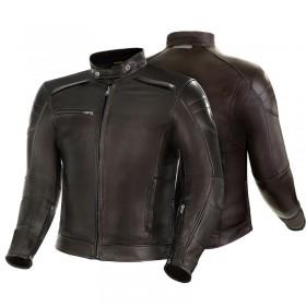 SHIMA BLAKE hnedá kožená bunda v štýle VINTAGE