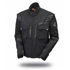 UFO TAIGA NERA K čierna enduro bunda s odnímateľnými rukávmi