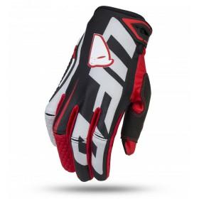 UFO BLAZE motokrosové rukavice, čierno bielo červené