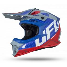 UFO INTREPID motokrosová prilba, modro šedo červená