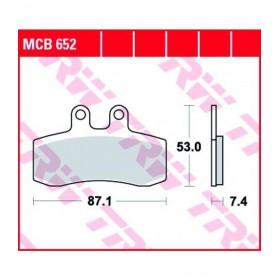MCB652 TRW predné brzdové doštičky APRILIA PEGASO 650 1991-1996