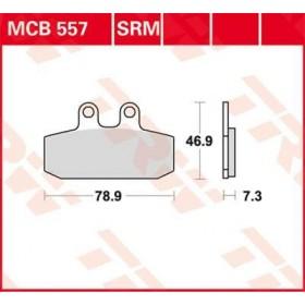 MCB557 TRW brzdové doštičky