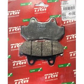 MCB512 TRW brzdové doštičky