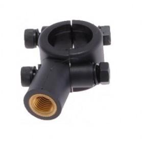 Adaptér - objímka na volant pre spätné zrkadlo M8 čierna, pravý závit