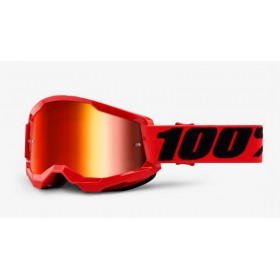 100 PERCENT STRATA 2 RED - MIRROR RED LENS motokrosové okuliare