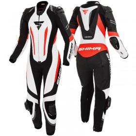 SHIMA MIURA RS BLACK WHITE RED FLUO dámska športová 1-dielna kombinéza