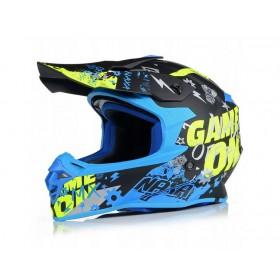 NAXA C9/R motokrosová prilba čierno-modrá FLUO matná