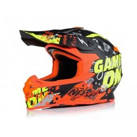 NAXA C9/P motokrosová prilba čierno-oranžová FLUO matná