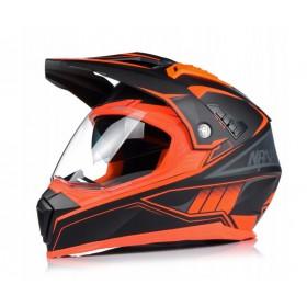 NAXA CO3/K ENDURO ATV prilba s 3D clonou a štítom - matná čierno oranžová